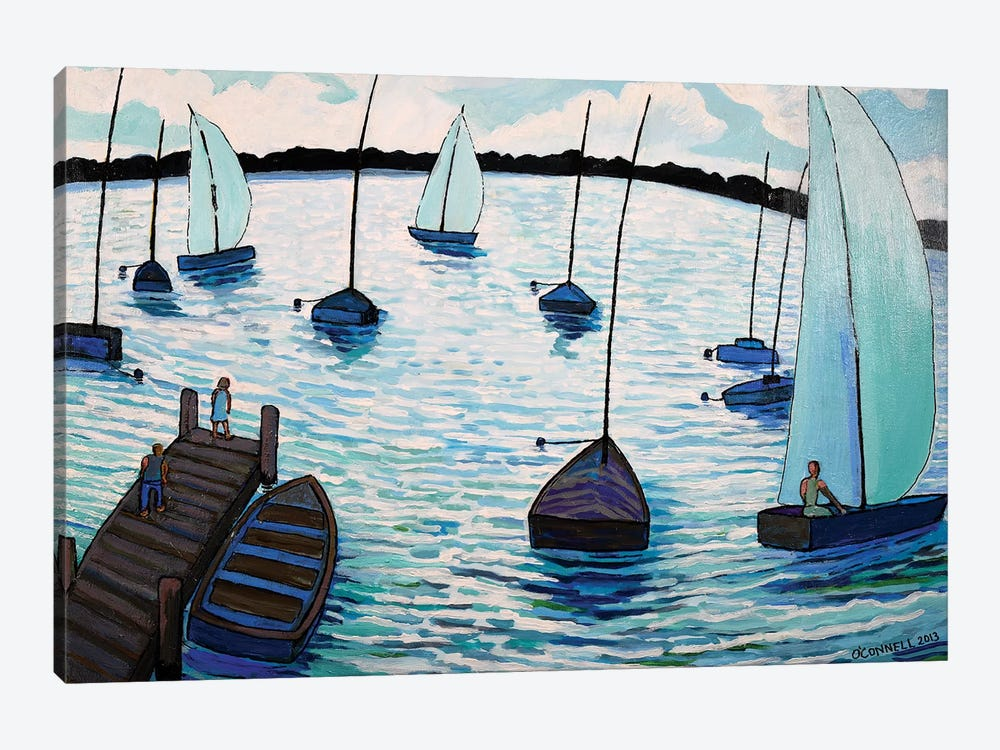 Sailing Fun At Lake Harriet In Minneapolis by James O'Connell 1-piece Canvas Artwork