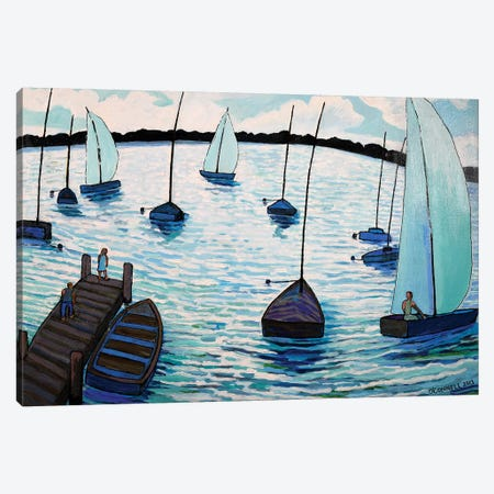Sailing Fun At Lake Harriet In Minneapolis Canvas Print #OCN61} by James O'Connell Canvas Wall Art