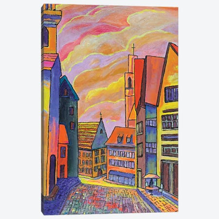Streets Of Düsseldorf II Canvas Print #OCN65} by James O'Connell Canvas Print