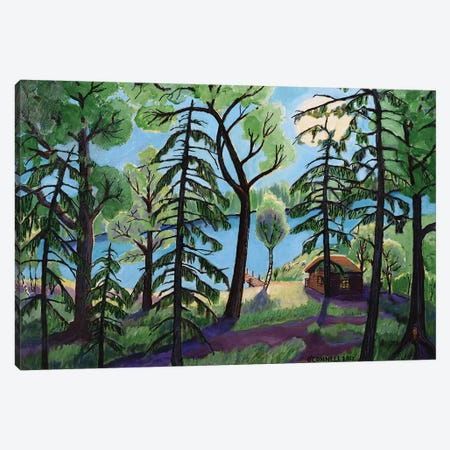 Summer Cottage On The Land Canvas Print #OCN67} by James O'Connell Art Print