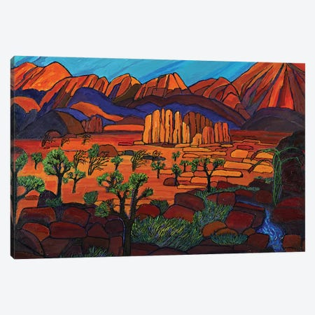 Sundown In Desert Mountain Valley Canvas Print #OCN70} by James O'Connell Art Print