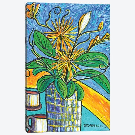 Tea With A Bouquet Canvas Print #OCN75} by James O'Connell Canvas Art