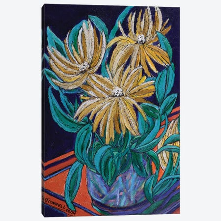Unsettled Bouquet Canvas Print #OCN87} by James O'Connell Art Print