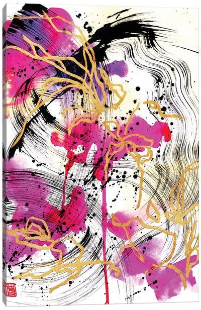 Magenta Petals (Beethoven's Piano Sonata) Canvas Art Print
