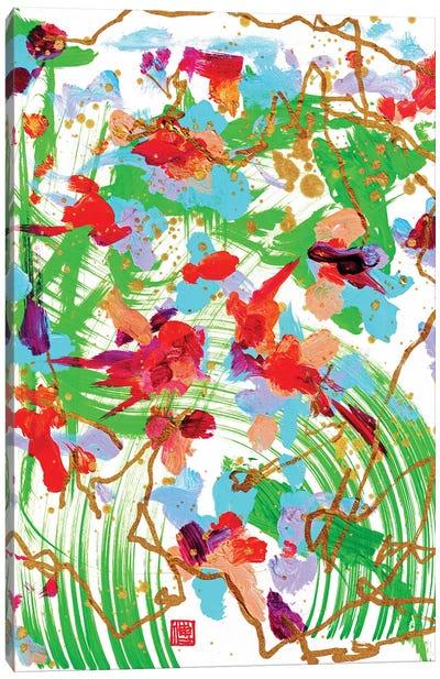 Altar Flowers (Bach's Cello) Canvas Art Print