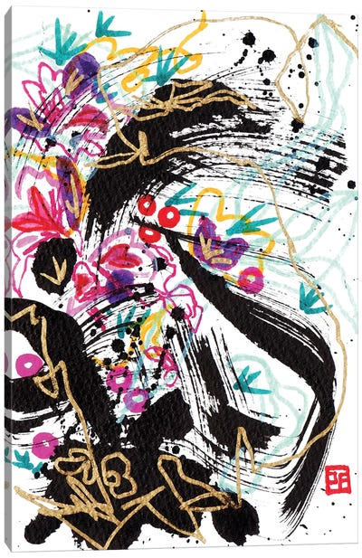 Pansies Violin Concerto Canvas Art Print