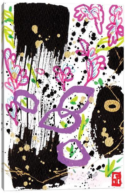 Violets By The Shore Canvas Art Print
