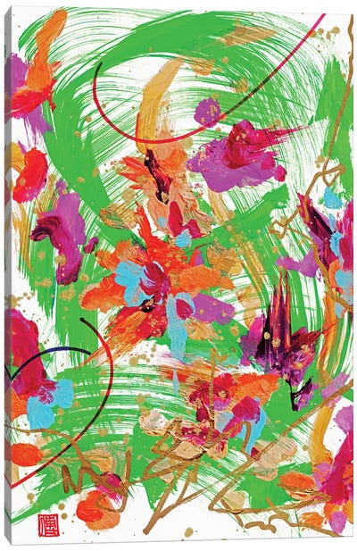 Bach: Green Altar Flowers Canvas Art Print