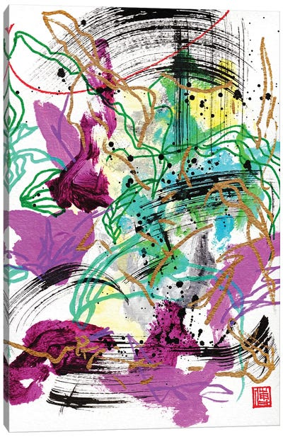 Beethoven: Dreamy Violets Canvas Art Print