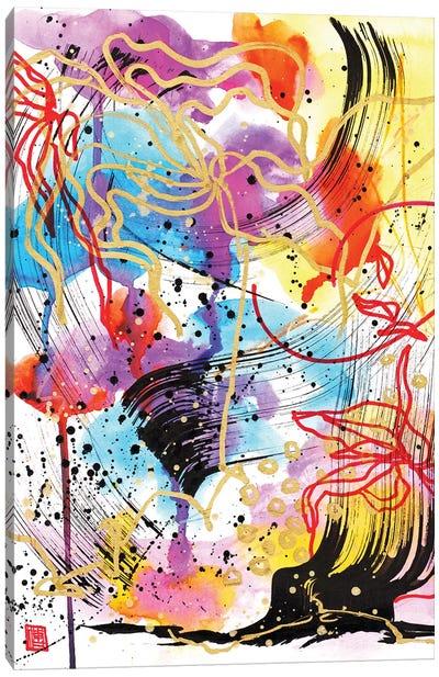 Bach's Cello In The Rain Canvas Art Print