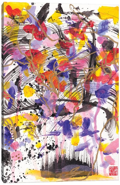 Butterflies And Violets (Bach's Violin Concerto) Canvas Art Print