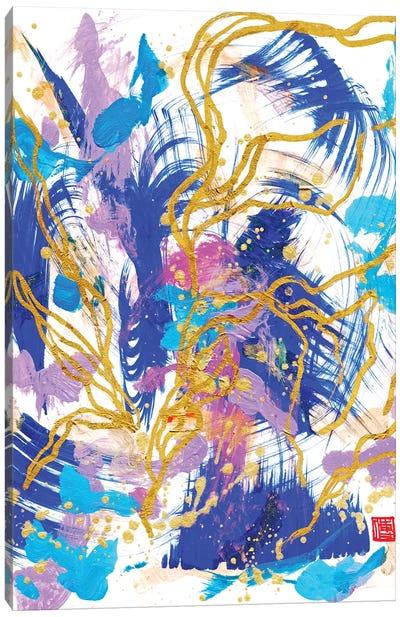 Blue Altar Flowers (Beethoven's Piano Sonata) Canvas Art Print