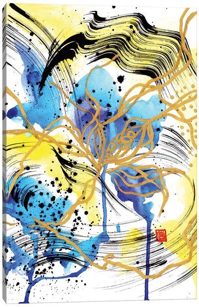 Blue Petals (Beethoven's Piano Sonata) Canvas Art Print