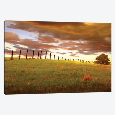 Fenceline, South Dakota Canvas Print #ODL1} by Dale O'Dell Canvas Art Print