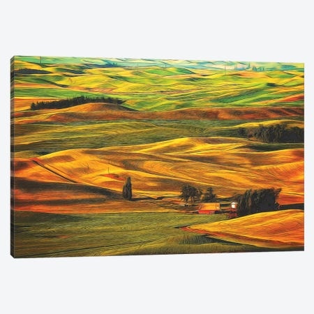 Palouse XXII Canvas Print #ODL2} by Dale O'Dell Canvas Art Print