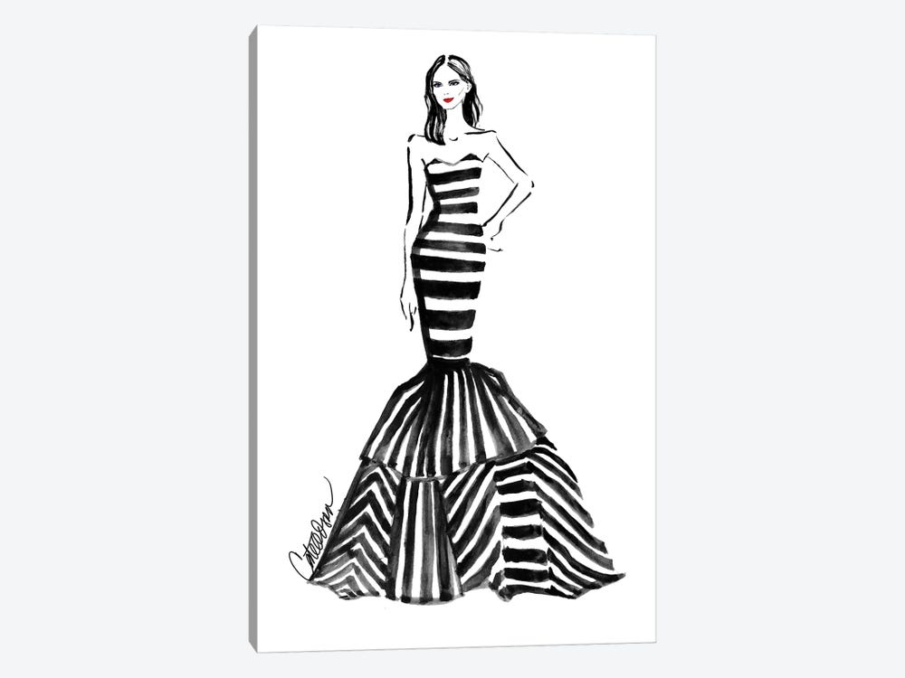 Monochrome Mermaid by Cate Odson 1-piece Canvas Print