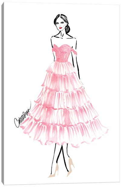 Pink Lace Canvas Art Print