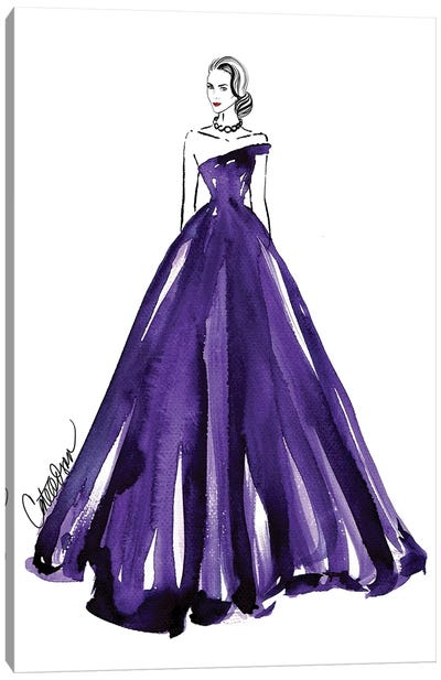 Purple Royale Canvas Print #ODS17