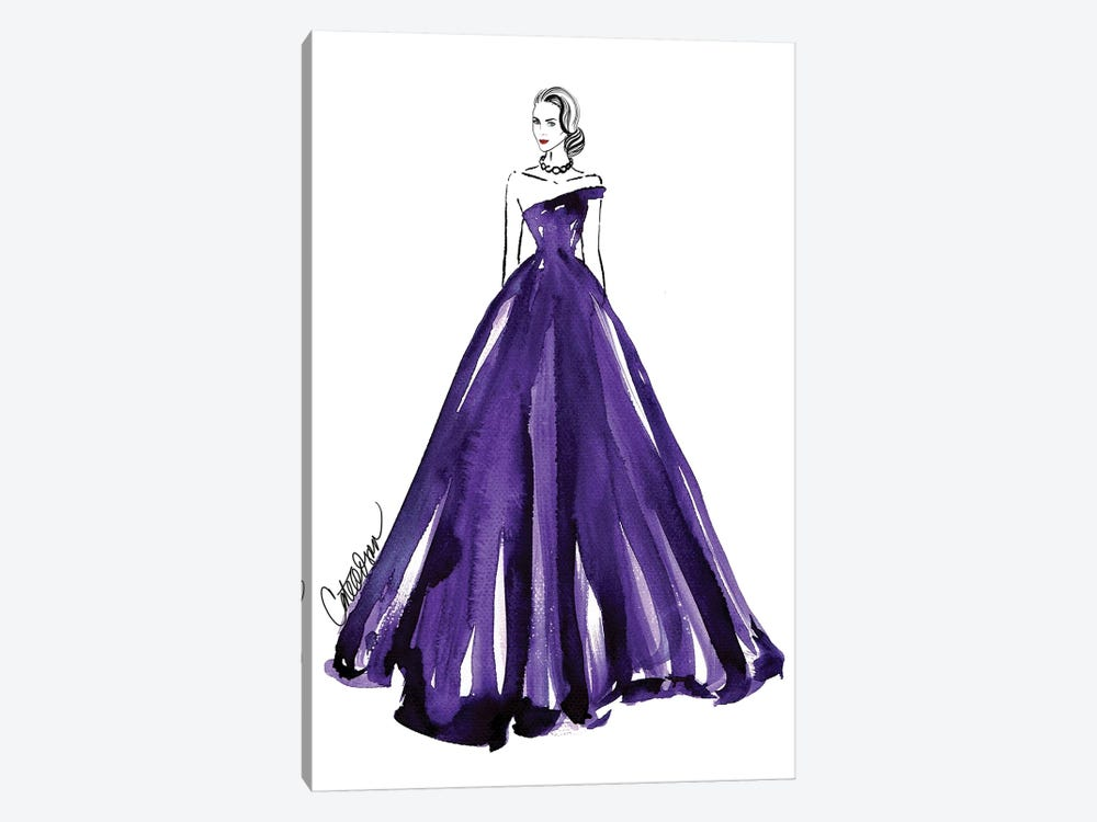 Purple Royale by Cate Odson 1-piece Canvas Print