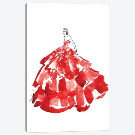 Belle Of The Ball Canvas Print #ODS3} by Cate Odson Canvas Art Print
