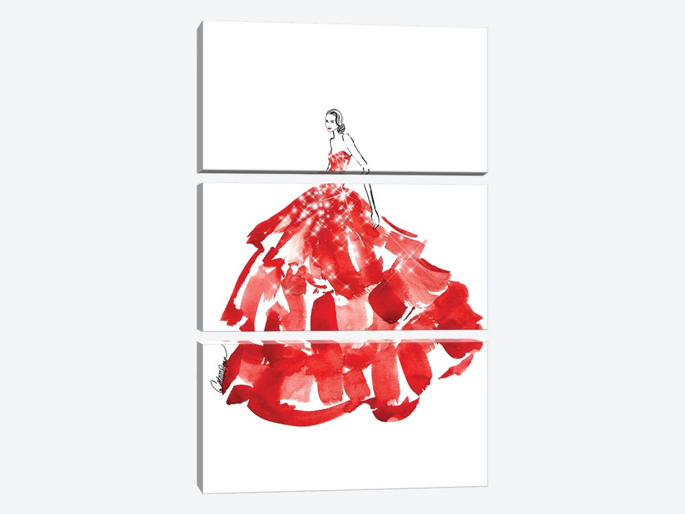Belle Of The Ball by Cate Odson 3-piece Art Print