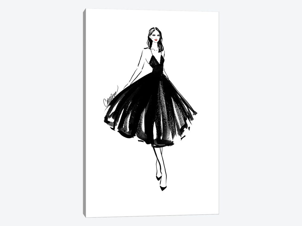 Black Swan by Cate Odson 1-piece Canvas Print