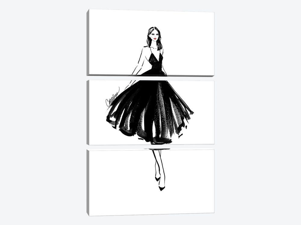 Black Swan by Cate Odson 3-piece Art Print