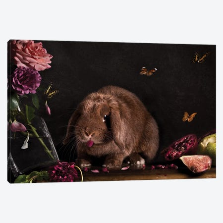 Still Life Gone Wrong - The Rabbit Canvas Print #ODT13} by Oddball Tails Canvas Artwork