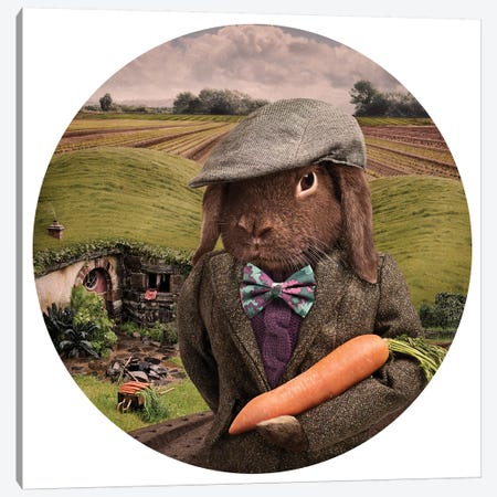 The Carrot Farmer Canvas Print #ODT15} by Oddball Tails Canvas Art Print