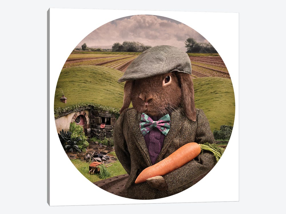 The Carrot Farmer by Oddball Tails 1-piece Canvas Art