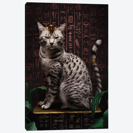 The Egyptian Mau Canvas Print #ODT17} by Oddball Tails Canvas Art Print