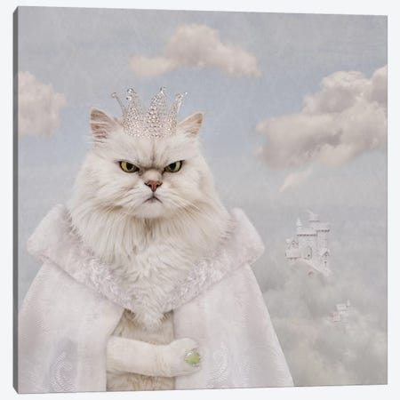 The Feline Cloud Conquer Canvas Print #ODT18} by Oddball Tails Canvas Art