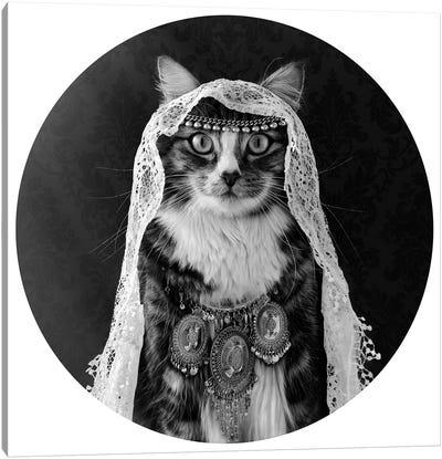 The Feline Mind Reader Canvas Art Print
