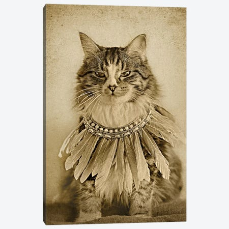 Chief Bird Whisperer Canvas Print #ODT1} by Oddball Tails Canvas Artwork