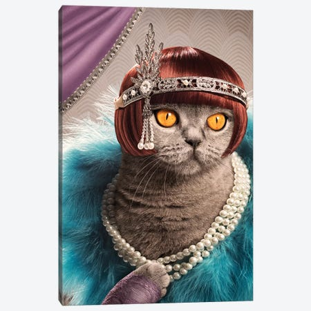 The Great Catsby Canvas Print #ODT20} by Oddball Tails Canvas Art Print