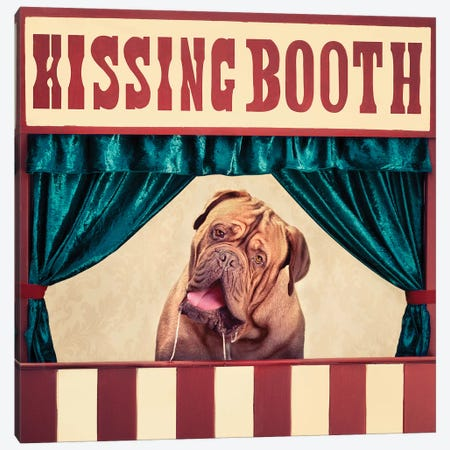 The Kissing Booth Canvas Print #ODT21} by Oddball Tails Canvas Print