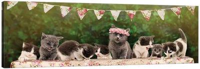 The Kitten Tea Party Canvas Art Print