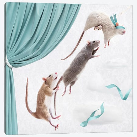 The Ratty Trapeze Artists Canvas Print #ODT26} by Oddball Tails Canvas Artwork
