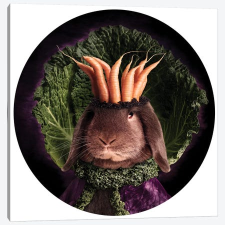 The Royal Of Lettuce Land Canvas Print #ODT28} by Oddball Tails Canvas Art Print