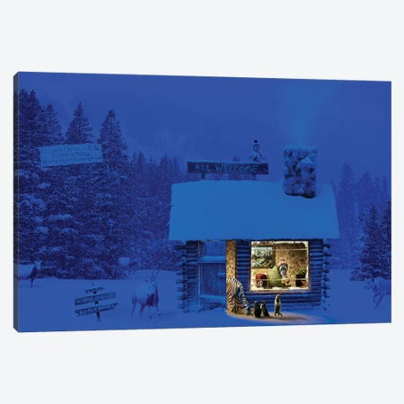 Climate Change Respite Hut  Canvas Print #ODT2} by Oddball Tails Canvas Artwork