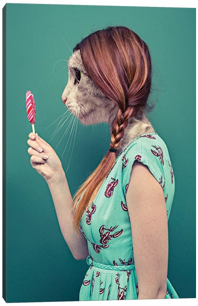 When A Cat Becomes Her Human Canvas Art Print