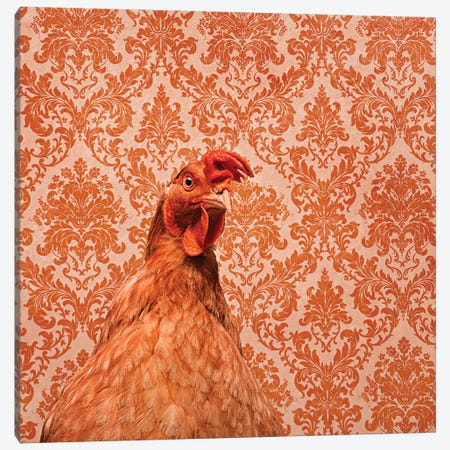 Matilda The Chicken Canvas Print #ODT7} by Oddball Tails Art Print