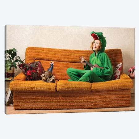 New Year's For Introverts Canvas Print #ODT8} by Oddball Tails Canvas Art