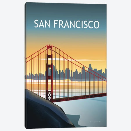 San Francisco II Canvas Print #OES11} by Omar Escalante Canvas Art