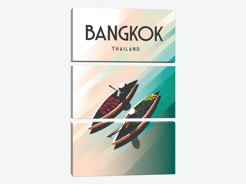 Bangkok Thailand by Omar Escalante 3-piece Canvas Artwork