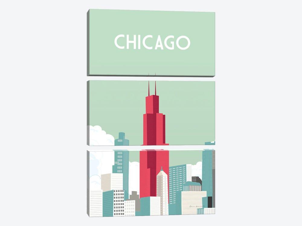 Chicago by Omar Escalante 3-piece Art Print