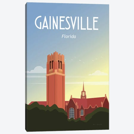 Gainesville Canvas Print #OES15} by Omar Escalante Art Print