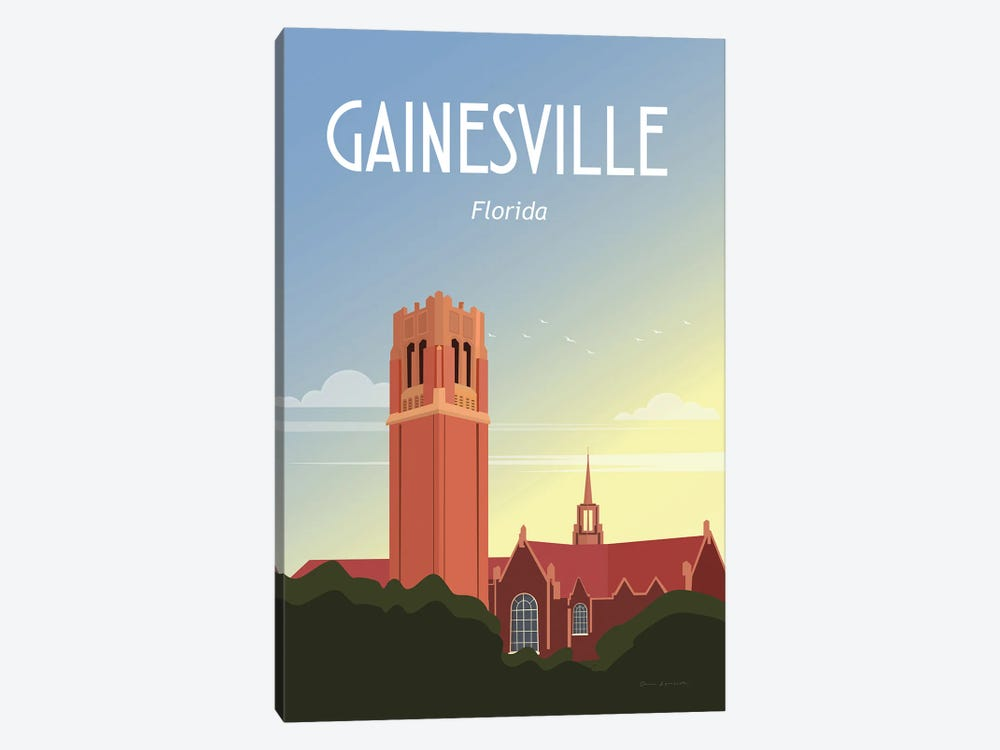 Gainesville by Omar Escalante 1-piece Canvas Art Print
