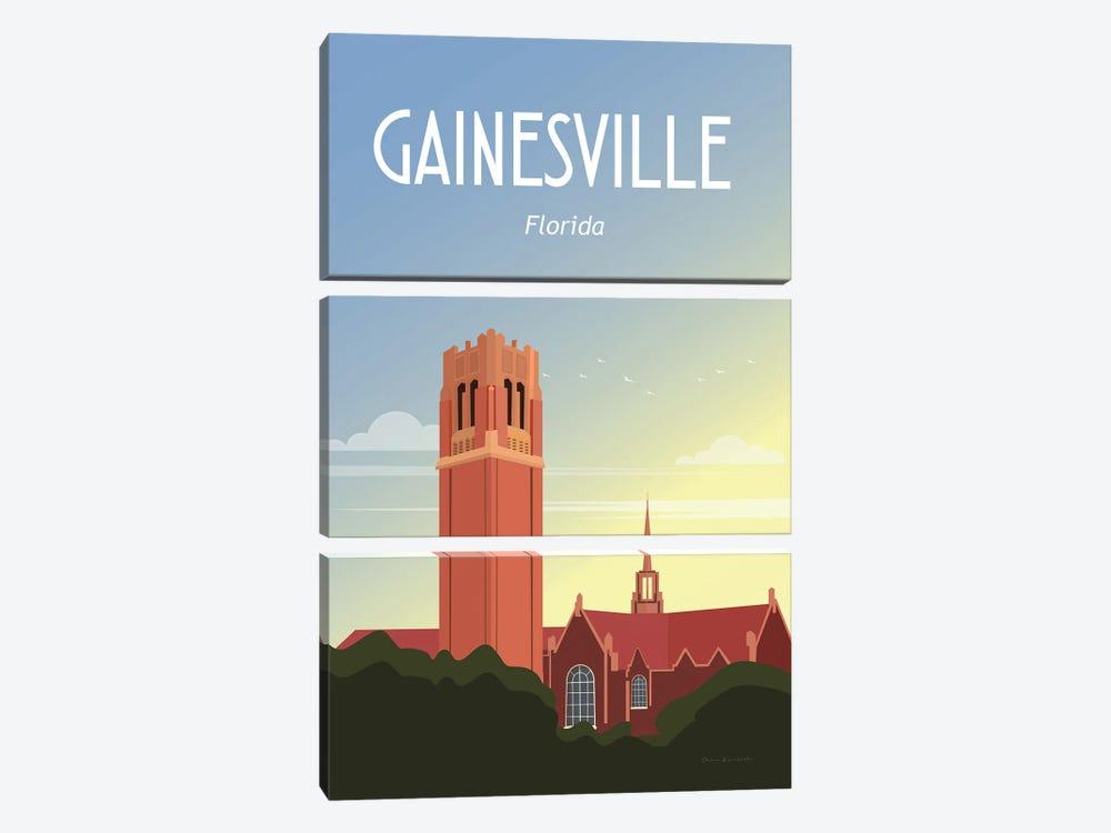 Gainesville by Omar Escalante 3-piece Canvas Print