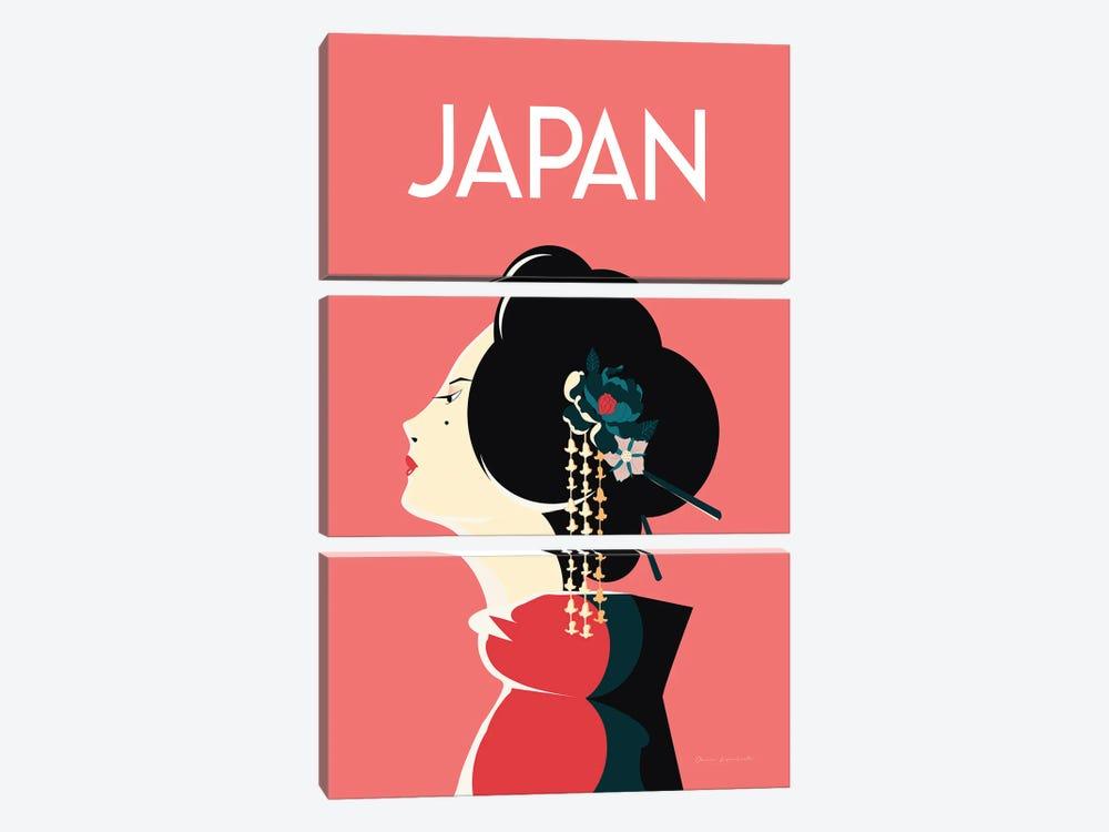 Japan by Omar Escalante 3-piece Canvas Print
